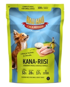 Hau Hau Champion täissööt kana-riisiga väikest kasvu koertele / 1,5kg