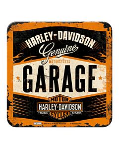 Retro klaasialus / Harley-Davidson Garage / 1tk /LM