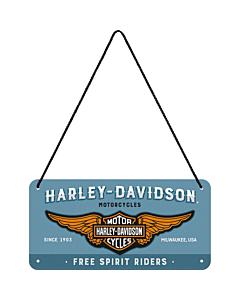 Metallplaat 10x20 cm / Harley-Davidson  logo