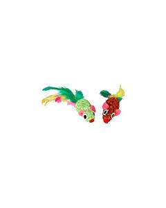 FLAMINGO värviline hiir sulgedega  / 5cm