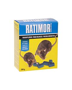 Hiire- ja rotimürk Ratimor vahaplokid / 200g