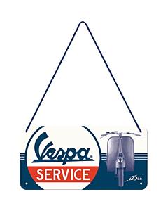 Retro metallplaat Vespa Service / 10x20cm