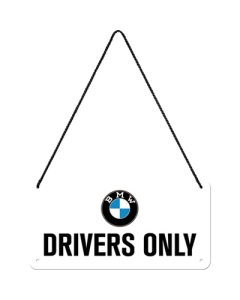 Retro metallplaat BMW - Drivers Only / 10x20cm