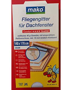 Mako putukavõrk katuseaknale / 140x170cm / valge
