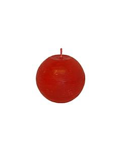 Свеча Патина шар красная /  8cm