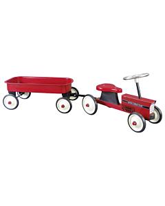 Pealeistutav traktor käruga