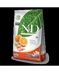 Farmina GMO ja teraviljavaba koeratoit Adult Medium Breed Fish and Orange / 12kg