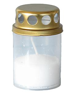 Могильная свеча с крышкой Bolsius / 130x65 mm / красная