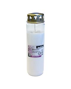 Могильная свеча с крышкой Bolsius / 130x65 mm / белая