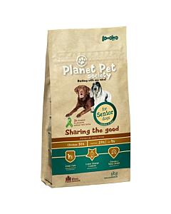 Planet Pet Society täistoit kana-riisi eakatele koertele / 15kg