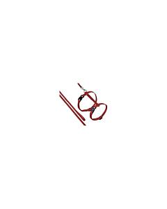 FLAMINGO traksid + jalutusrihm kassidele, punane / 110cm
