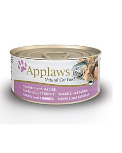 Applaws kassikonserv makrell/sardiin / 70g