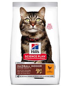 Hill´s Science Plan Hairball/Indoor Mature kassitoit kanaga / 1,5kg