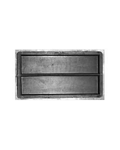 Plastvorm katteplaat sile 2 tk./ 24,0x6,0X2,0 cm