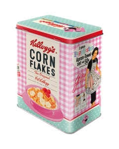 Metallpurk L / Kellogg's Corn Flakes The best to you every morning / LM