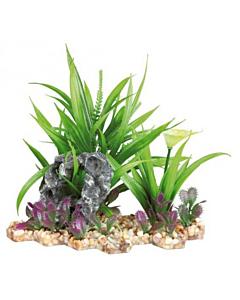 Akvaariumi dekoratsioon, Kivid ja Taimed / 18cm