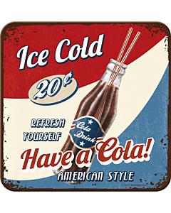 Retro klaasialus / 1tk / Have a Cola!