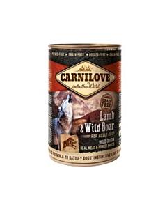Carnilove teraviljavaba konserv täiskasvanud koertele Lamb & Wild Boar / 400g