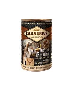 Carni Love Venison & Reindeer koerakonserv / 400g