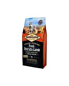 Carni Love FRESH täiskasvanud koerale jaanalinnu-&lambalihaga / 1,5kg