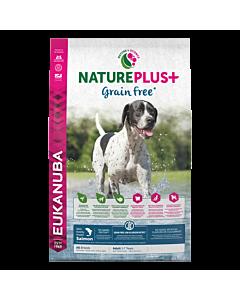 Koeratoit Eukanuba NaturePlus+ Grain Free Adult värskelt külmutatud lõhega./ 10 kg