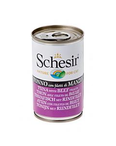 Schesir Cat kassikonserv tuunikala ja loomafileega / 140g