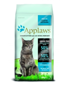 Applaws Natural Dry Adult Cat Food: Ocean Fish with Salmon kassitoit / 1,8kg