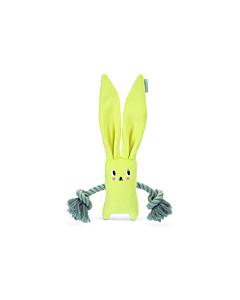 Beeztees kutsika mänguasi puppy Rabbit + Rope Jilco, kollane / 35cm
