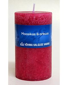 Lõhnaküünal 55x75 / 23h / silinder / Maasikas & Arbuus / LM