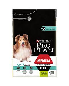 Pro Plan Adult Medium koeratoit tundlikule seedimisele lambaga / 3kg