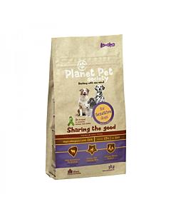 Planet Pet Society koeratoit lammas-riis tundlikele koertele / 3kg