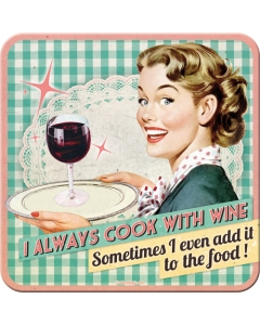 Retro klaasialus / I always cook with wine... / LM