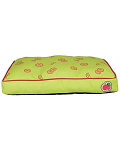 Koeravoodi Fruits cushion laimiroheline / 60x40cm