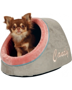 Magamiskoht Candy Cuddly Cave / taupe/salmon / 36x30x40cm