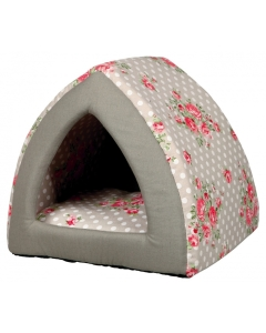 Magamiskoht Rose Cuddly Cave, taupe/white / 40x38x40cm