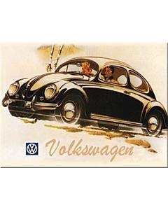 Magnet 6x8cm / VW Volkswagen Põrnikas must