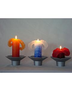 Мраморная свечка Лотос Синяя / 20cm