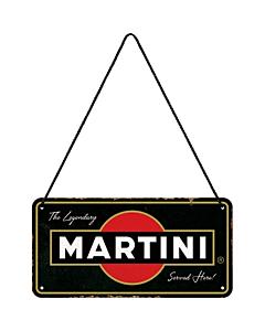 Metallplaat 10x20cm / Martini - Served Here