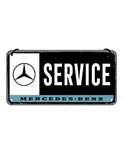 Metallplaat 10x20 cm / Mercedes-Benz Service
