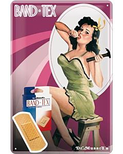 Металлический декоративный постер / Girl / 20x30см