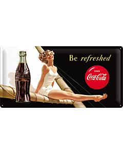 Metallplaat 25x50cm / Coca-Cola Be Refreshed