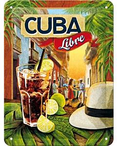 Metallplaat 15x20cm / Cuba Libre