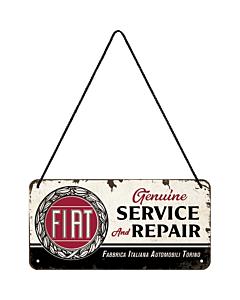 Metallplaat 10x20 cm / Fiat - Service & Repair