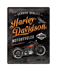 Metallplaat 30x40cm / Harley-Davidson  - Timeless Tradition