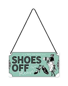 Metallplaat 10x20cm / Shoes Off