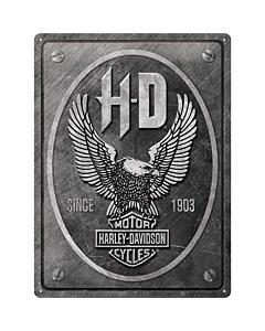 Metallplaat 30x40cm / Harley-Davidson - Metal Eagle