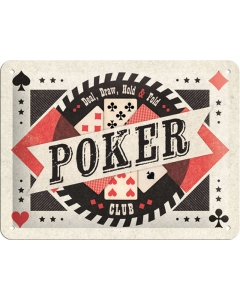 Metallplaat 15x20cm / Poker Club