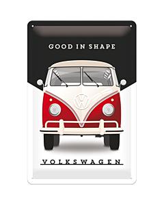 Metallplaat 20x30cm / VW Good in shape