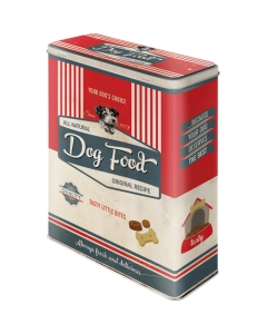 Metallpurk / XL / 3D Dog Food2 / LM