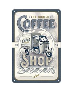Metallplaat 20x30cm / Ape The Mobile Coffee Shop